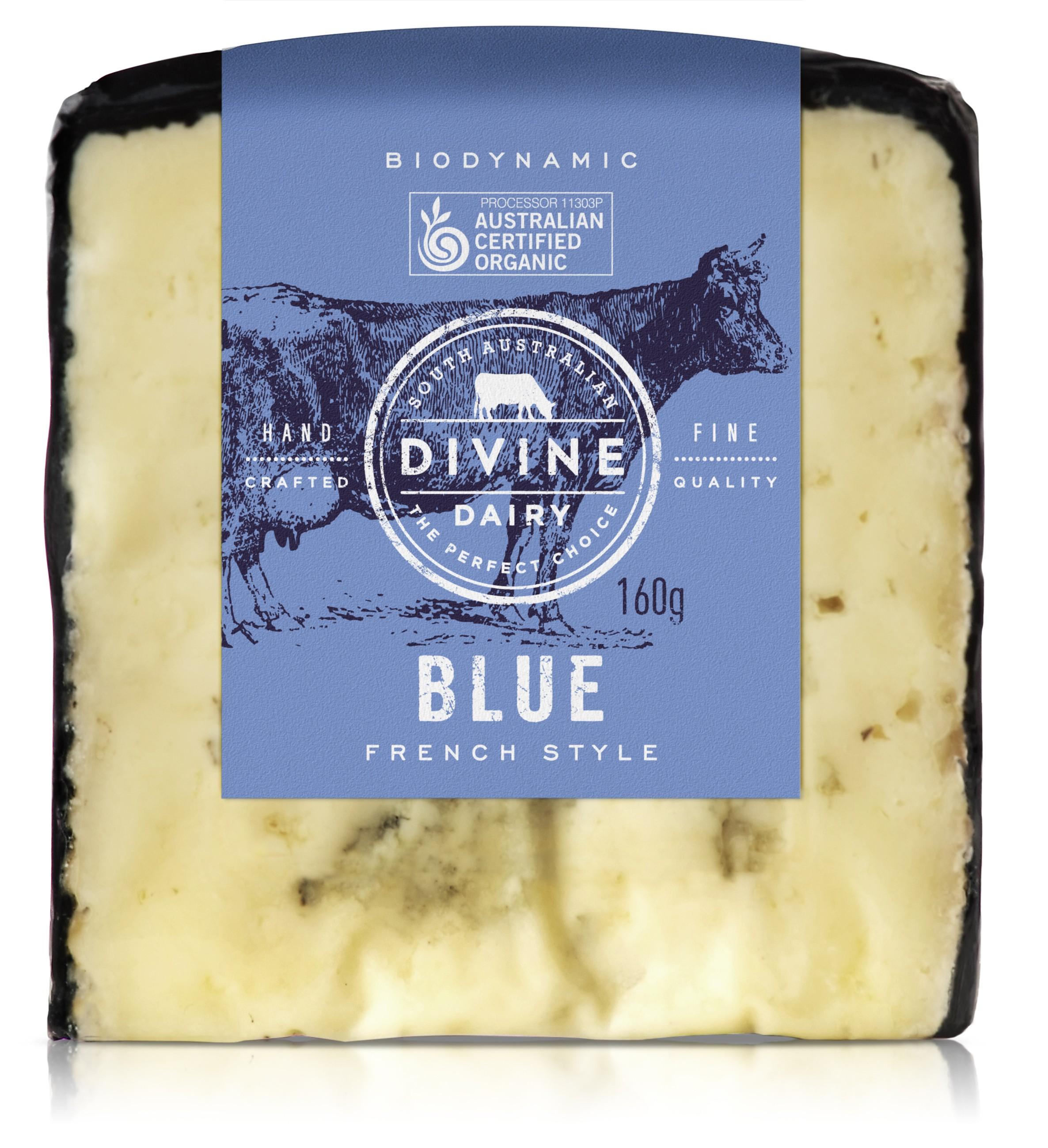 Organic Cheese Blue Divine Dairy 160g Aussie Farm