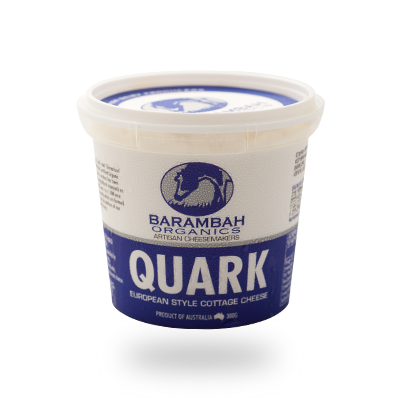 Organic Quark European Style Cottage Cheese Barambah 365g Local
