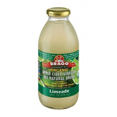 Organic apple cider vinegar drink - limeade (Braggs) 473mL - Farm ...